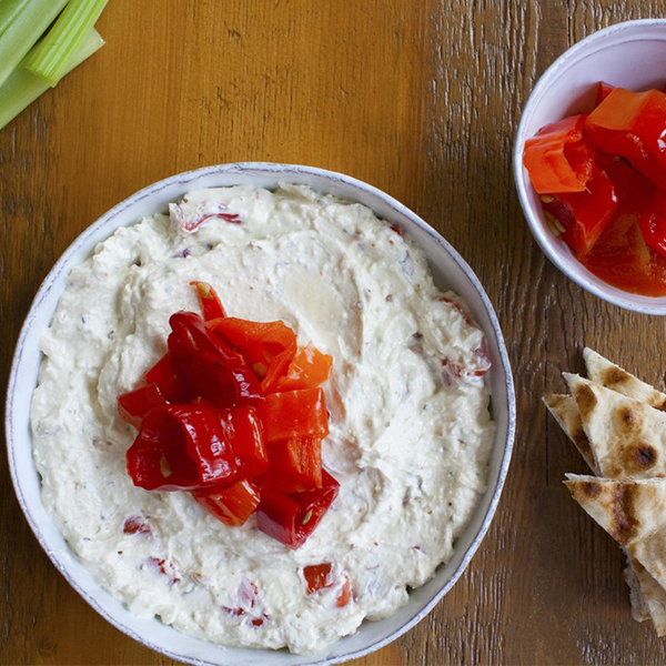 Spicy feta dip with Mama Lil's peppers