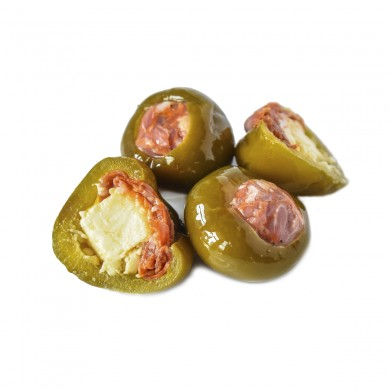 50645 - Green Cherry Peppers Stuffed with Chorizo & Monterey Jack