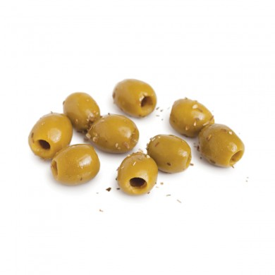 CLP215 - Green Olives with Herbes de Provence, Pitted