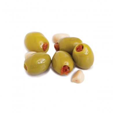 D0274 - Mt. Athos Green Olives Stuffed with Sundried Tomatoes