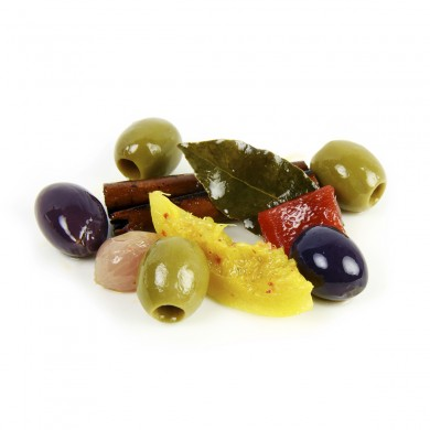 FR123-2 - Tunisian Olive Mix with Harissa & Lemon, Pitted