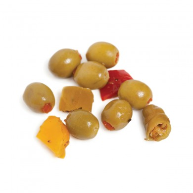 FR217 - Green Olives Stuffed with Red Bell Peppers