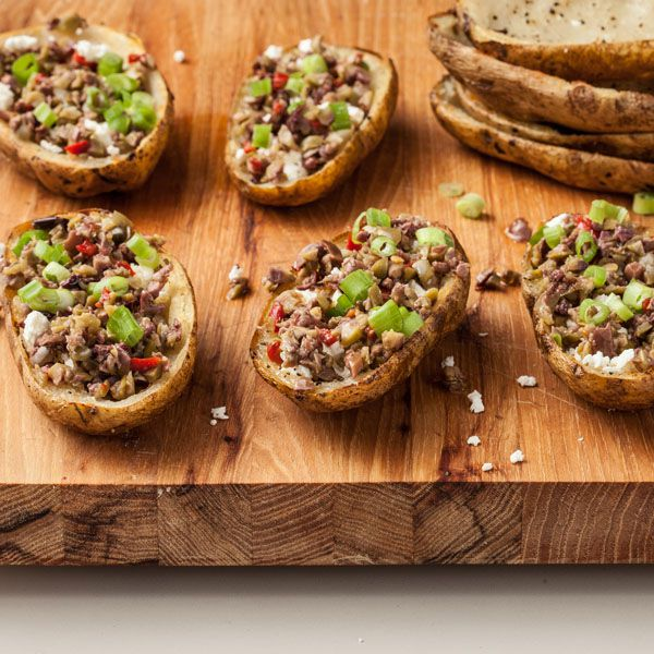 Olive Bruschetta Potato Skins