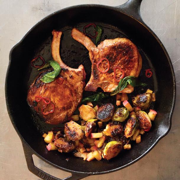 Fig & Chili Glazed Pork Chops