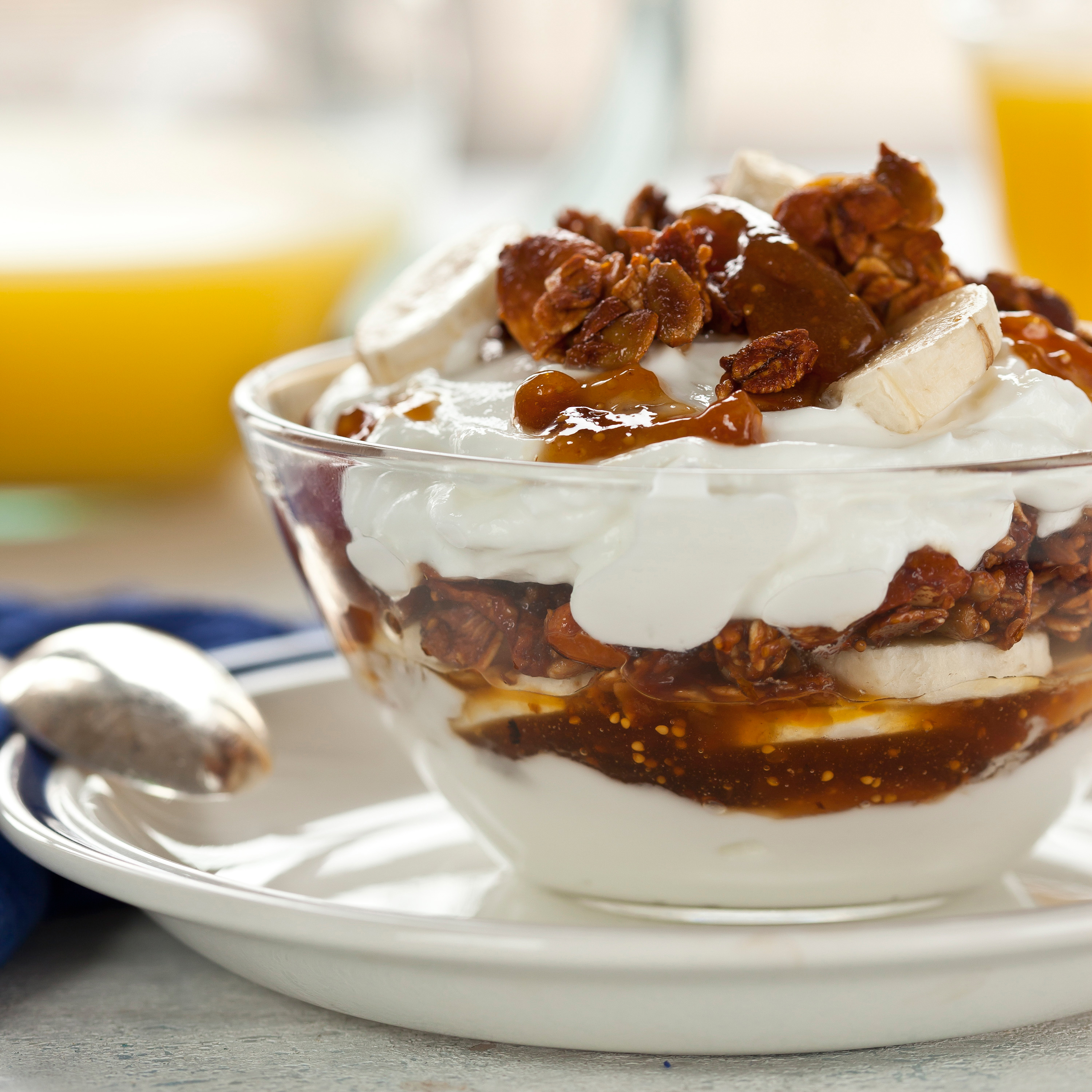 Yogurt, Fig Granola, & Banana Parfait