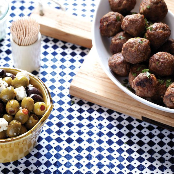 Stuffed Lamb Meatballs with Feta & Olives