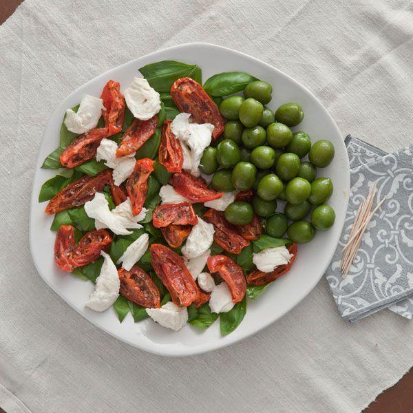 Italian Caprese & Olive Platter