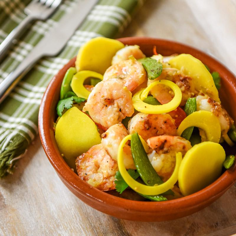 Shrimp & Hearts of Palm Stir-Fry