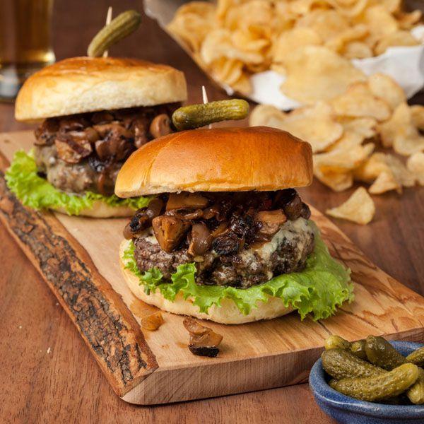 Balsamic Onion & Mushroom Burger