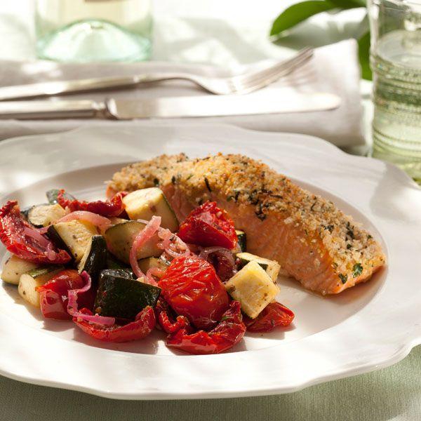 Dijon-Herb Crusted Salmon