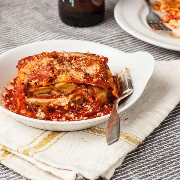 Roasted Pepper & Artichoke Lasagna