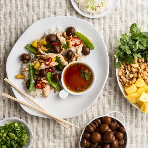 Stir Fry Chicken & Teriyaki Mushrooms