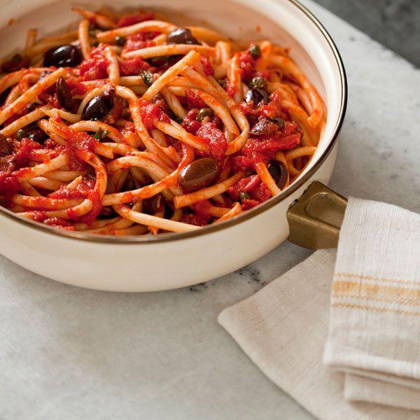 Classic Puttanesca Sauce with Spaghetti