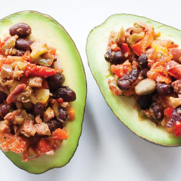 Olive Salsa in Avocado Bowls