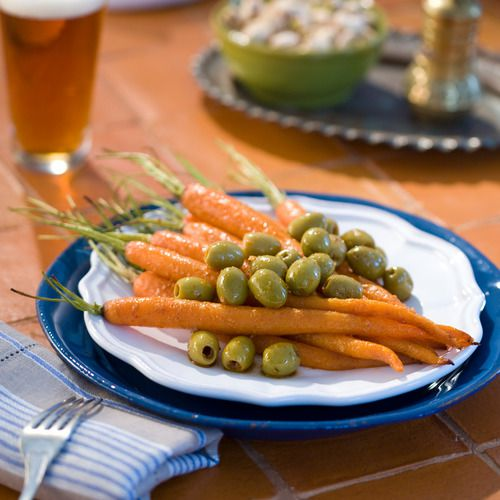 Roasted Moroccan Carrots & Green Beldi Olives