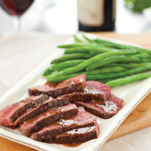 Steak with Fig Red Wine Sauce