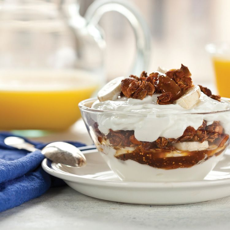 Yogurt, Fig Granola & Banana Parfait