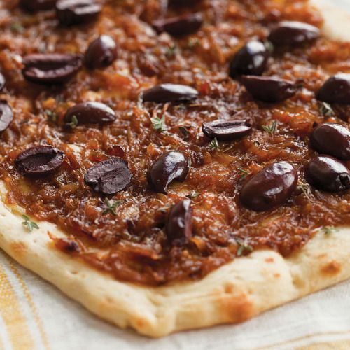 Caramelized Onion & Olive Flatbread