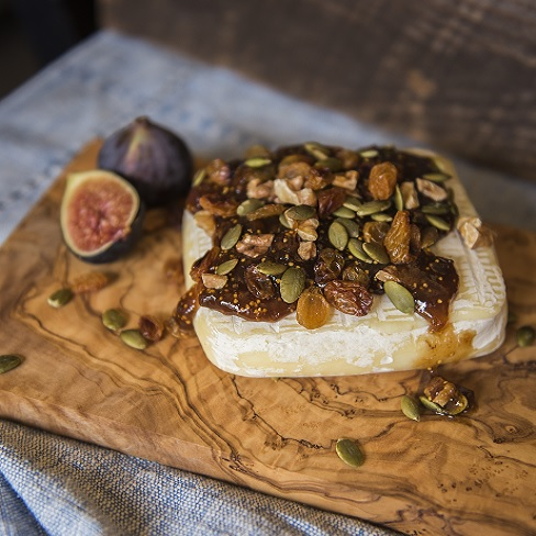 Baked Brie with Fig Spread