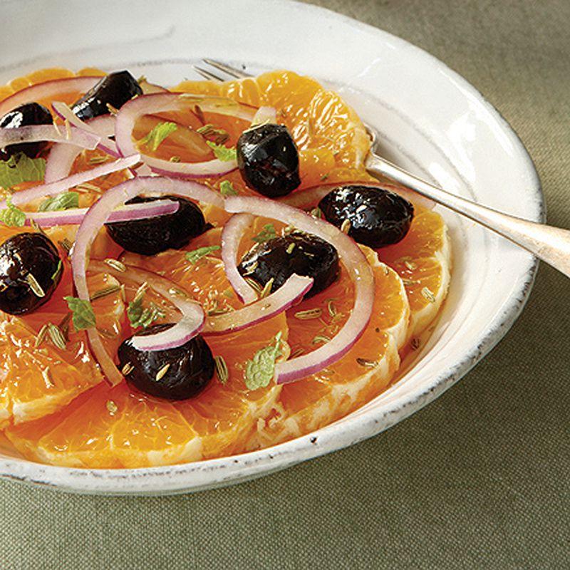 Moroccan Black Olive & Orange Salad