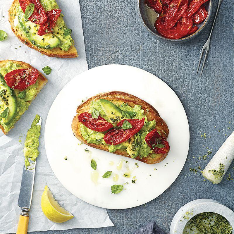Roasted Tomato & Avocado Tartine